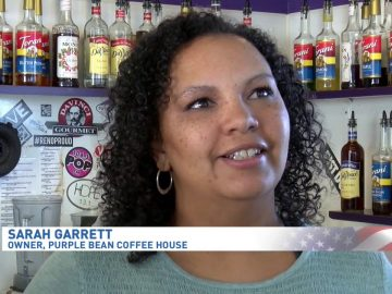 GratisGives with Purple Bean on the news